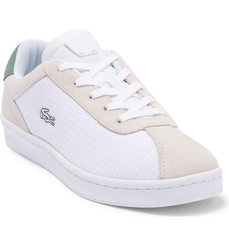 LACOSTE Masters 120 Sneaker, Main, color, WG1 OFF WHT/GRN