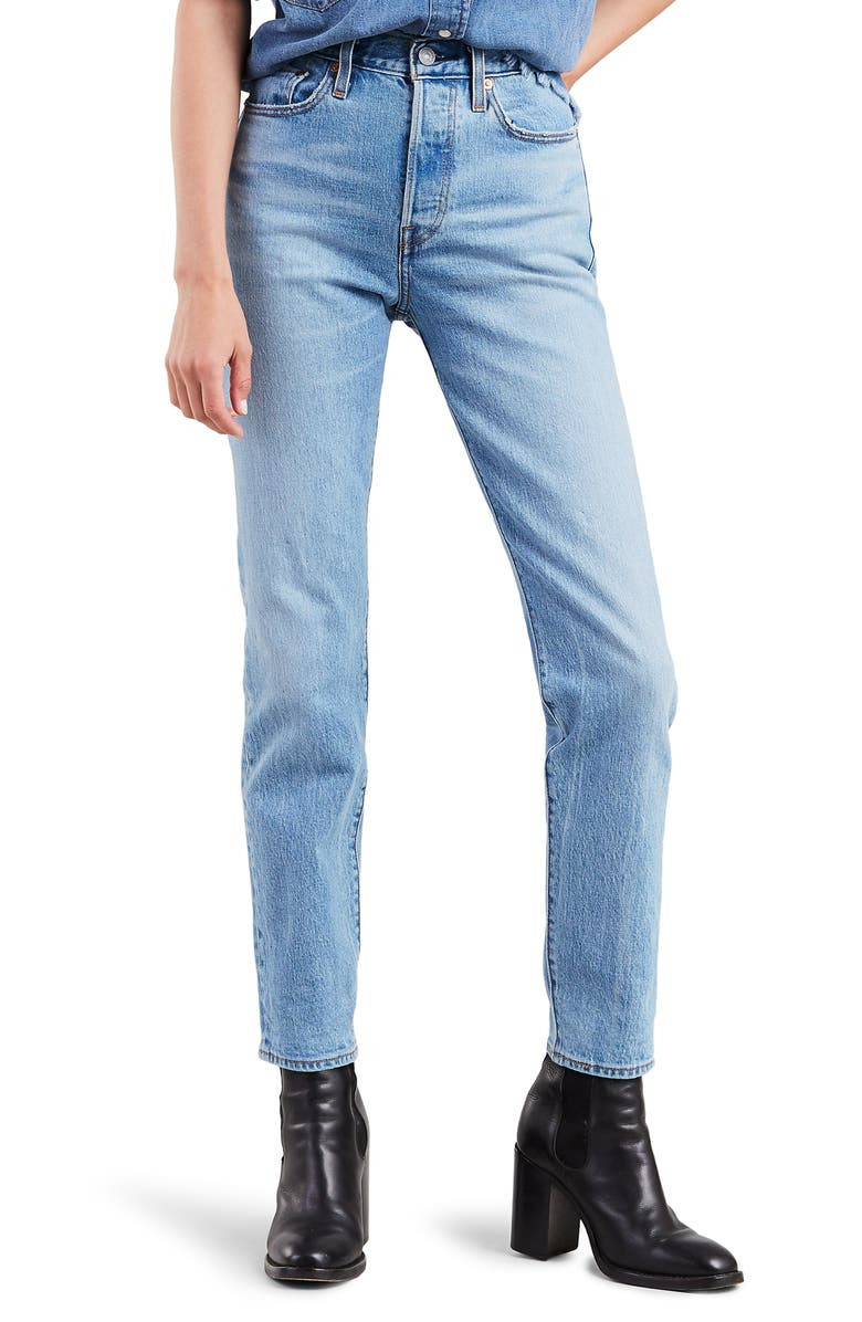 LEVI'S<SUP>®</SUP> Wedgie Icon Fit High Waist Ankle Jeans, Main, color, 450
