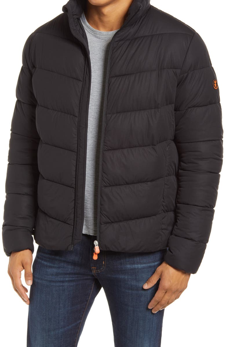 SAVE THE DUCK Waterproof Puffer Jacket, Main, color, BLACK