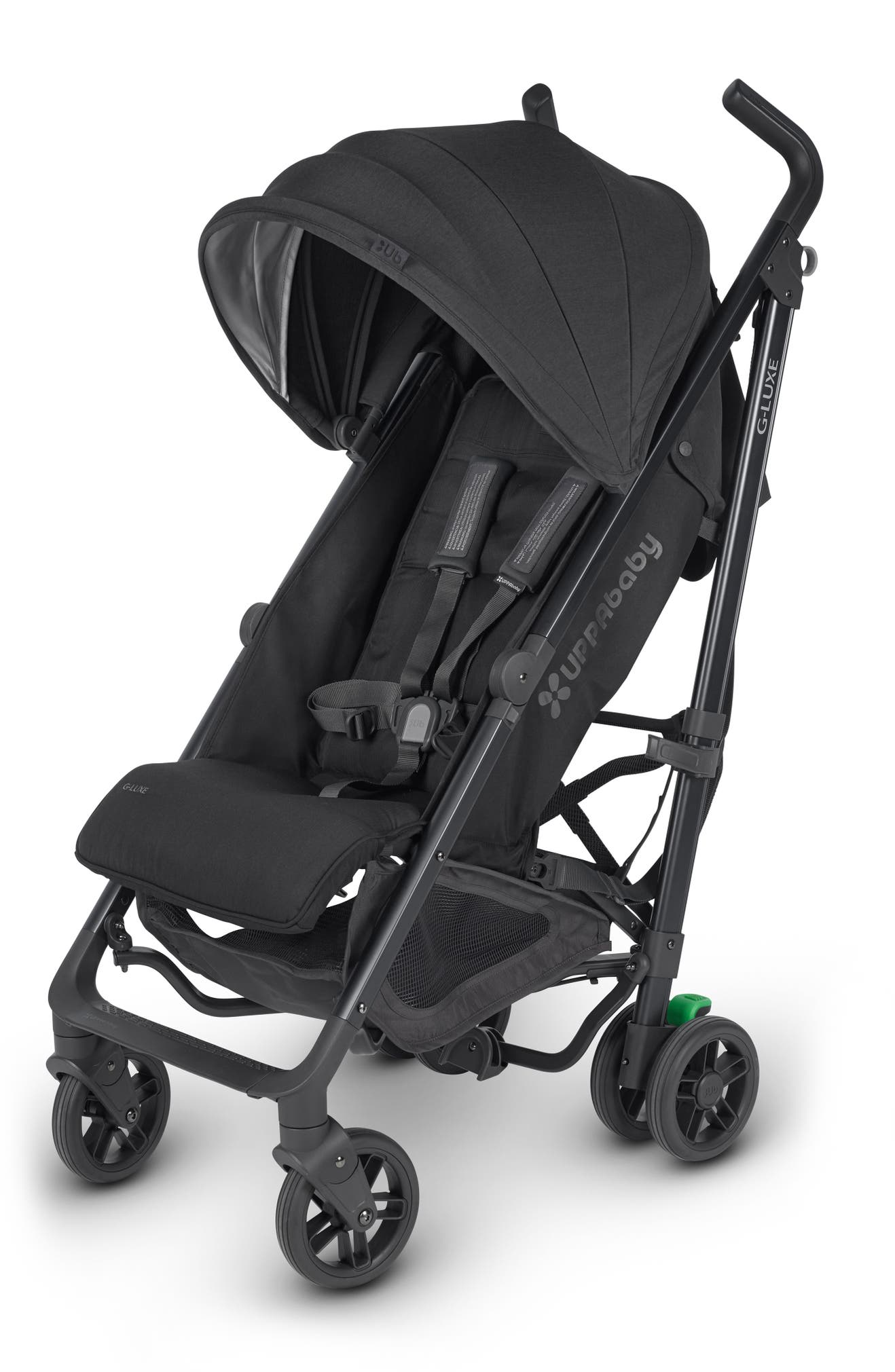 UPPABABY G-LUXE 2018 Reclining Umbrella Stroller, Main, color, BLACK/ CARBON