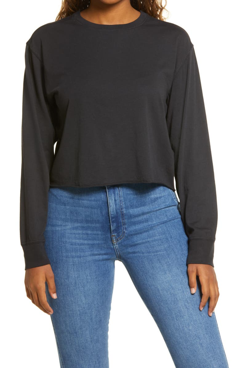 BP. Crop Long Sleeve Tee, Main, color, 001
