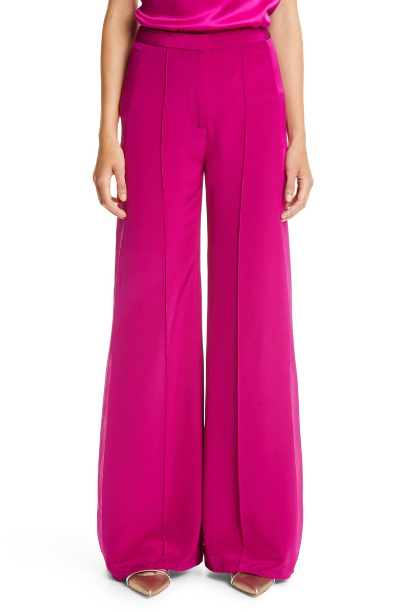 ADAM LIPPES Side Panel Silk Crepe Pants, Main, color, ORCHID