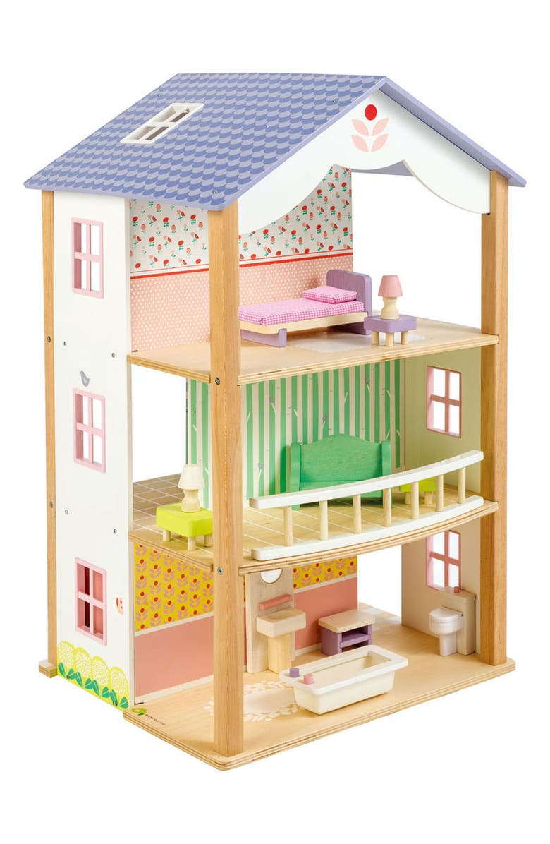TENDER LEAF TOYS Bluebird Villa Dollhouse, Main, color, 100