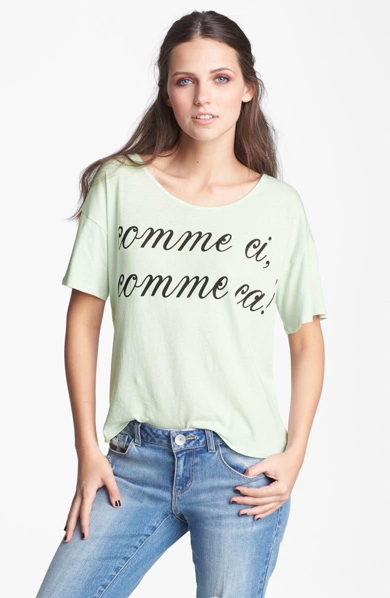 TEN SIXTY SHERMAN 'Comme Ci Comme Ca' Tee, Main, color, MINT CHIP