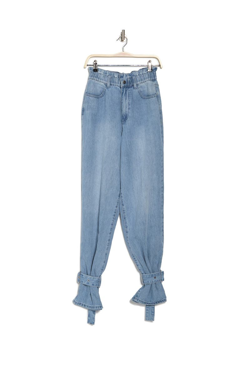 WEWOREWHAT Paperbag Buckle Jean, Main, color, GRAMMERCY