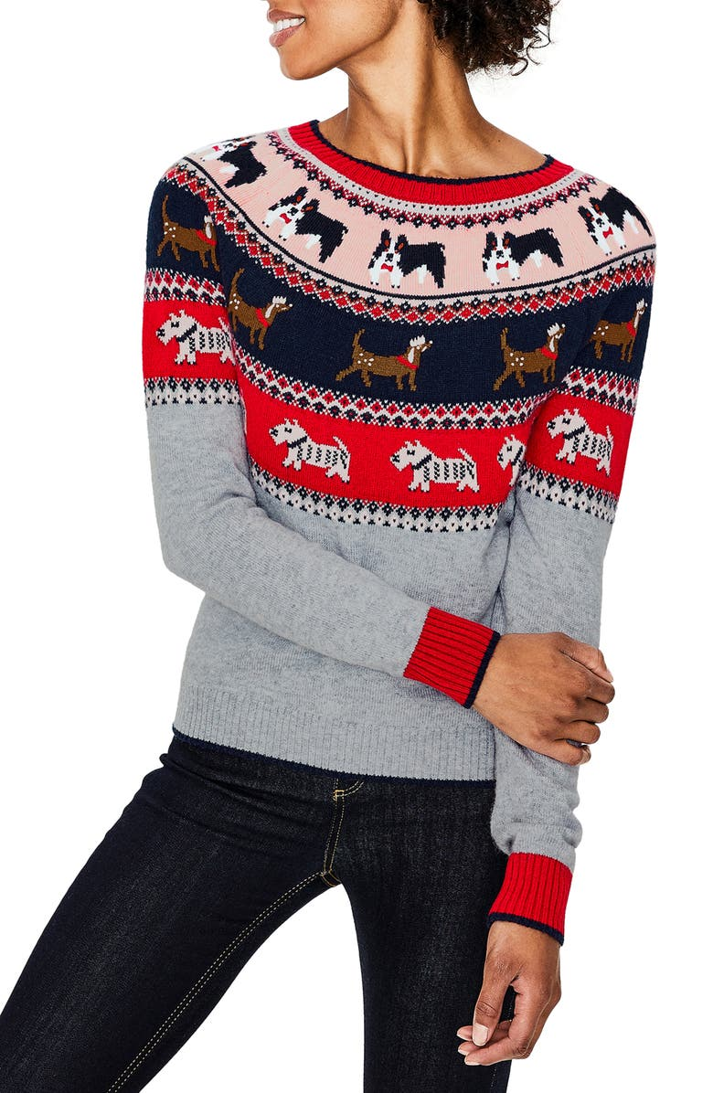 BODEN Holiday Fair Isle Sweater, Main, color, 054
