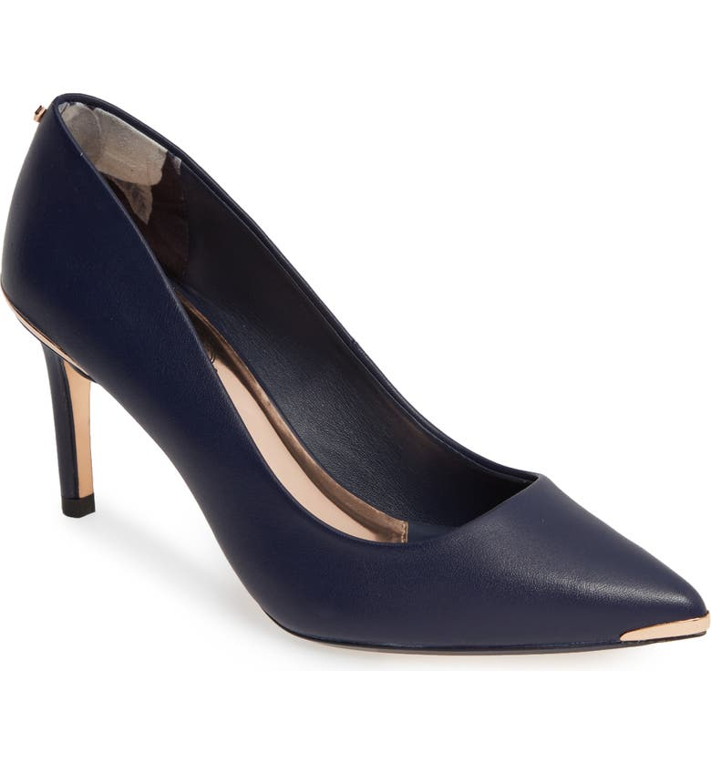 TED BAKER LONDON Wishiri Pump, Main, color, NAVY LEATHER