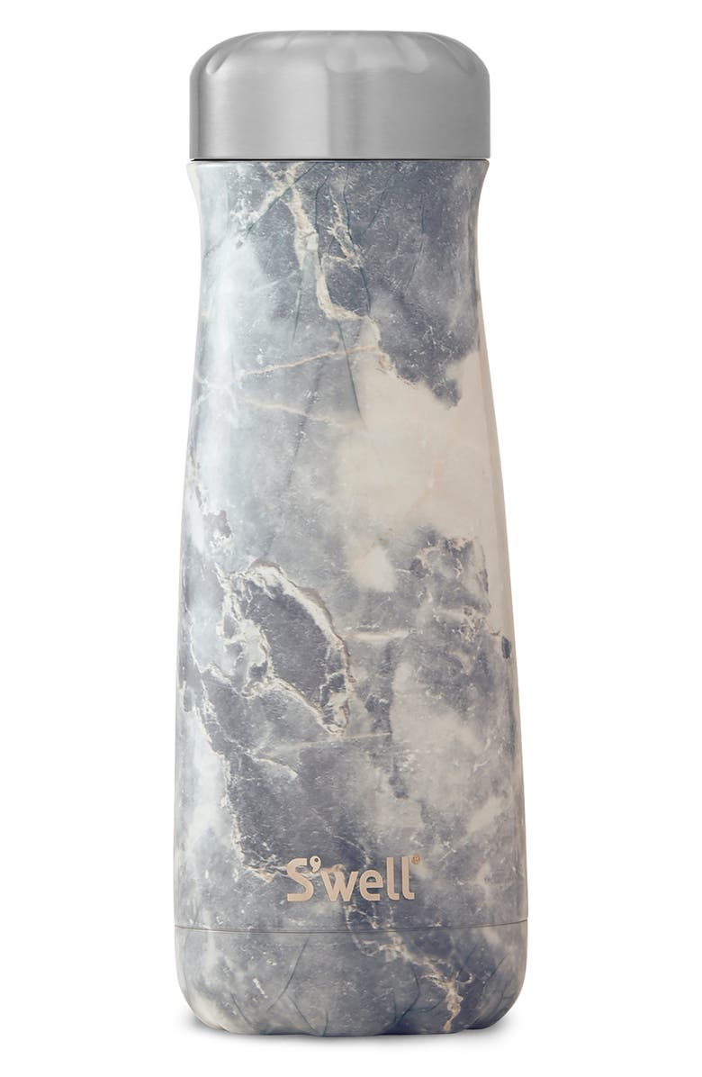 S'WELL Traveler Blue Granite 20-Ounce Insulated Stainless Steel Water Bottle, Main, color, BLUE GRANITE