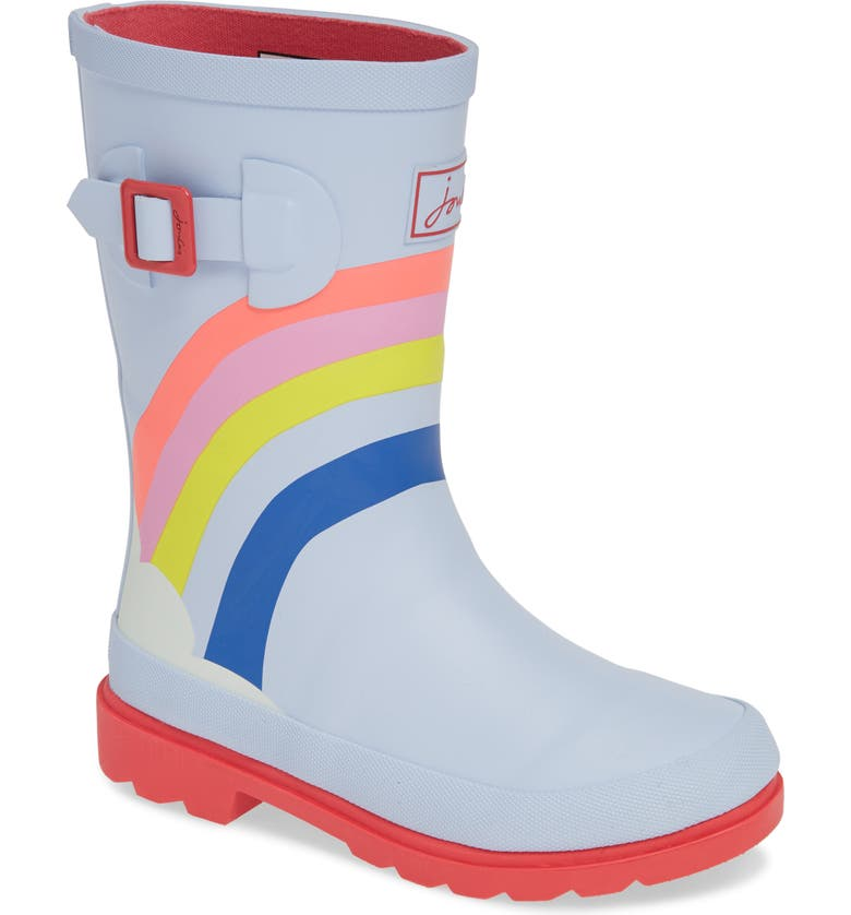 JOULES Mid Height Print Welly Waterproof Rain Boot, Main, color, 458