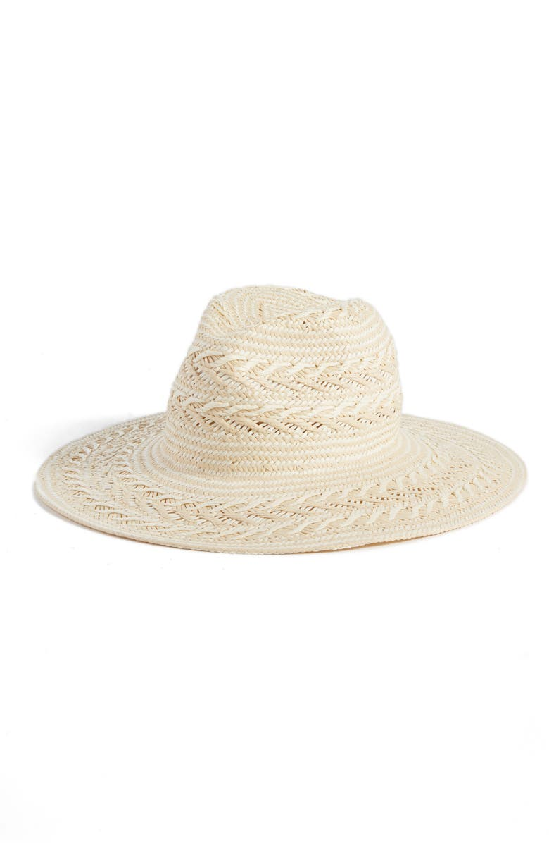 RACHEL PARCELL Straw Panama Hat, Main, color, 900