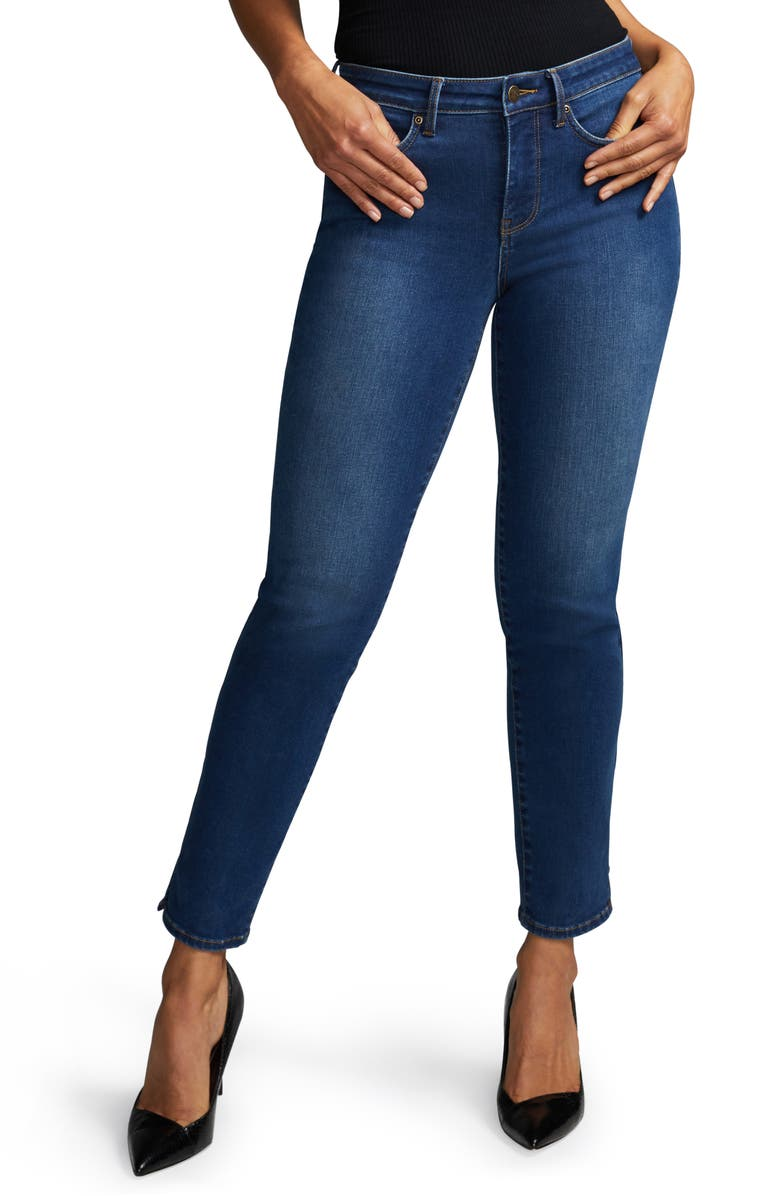 CURVES 360 BY NYDJ Slim Straight Ankle Jeans, Main, color, CLEAN NAPIER