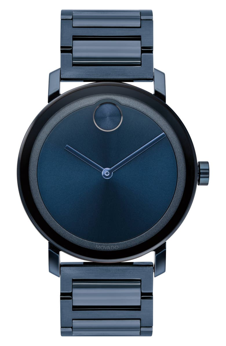 MOVADO Bold Evolution Bracelet Watch, 40mm, Main, color, BLUE