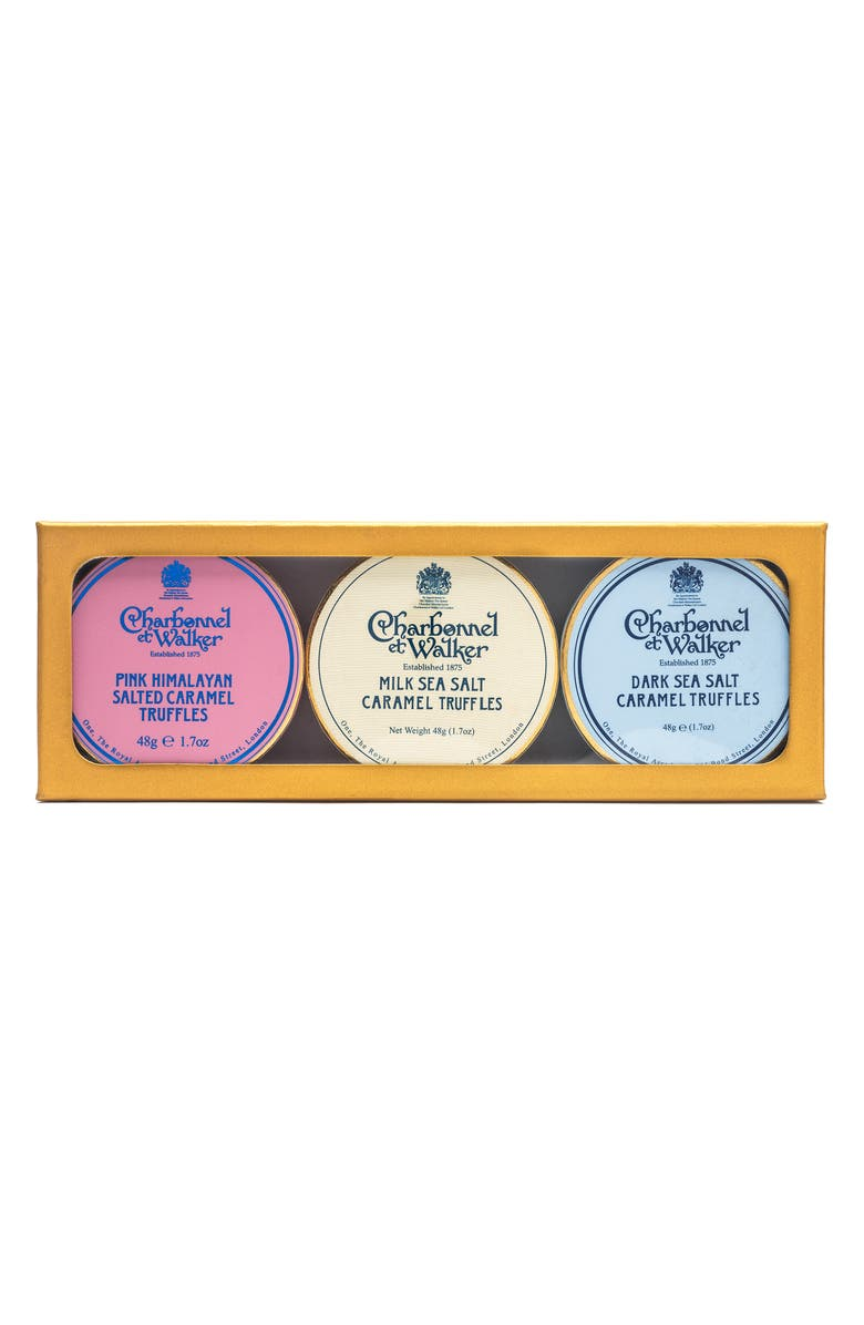 CHARBONNEL ET WALKER Sea Salt Caramel Milk Chocolate Truffles in Gift Box, Main, color, 200