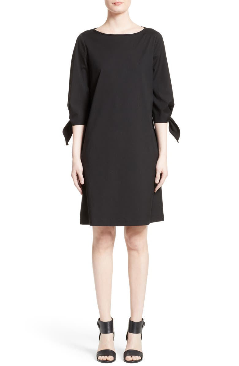 LAFAYETTE 148 NEW YORK Elaina Stretch Cotton Dress, Main, color, 001