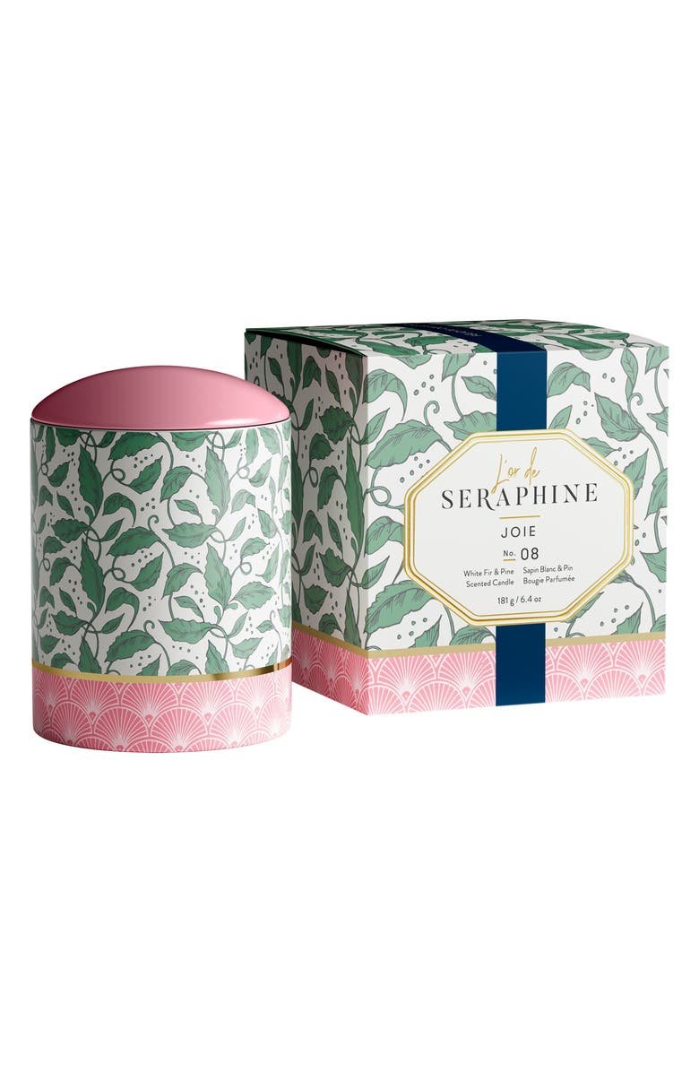 L'OR DE SERAPHINE Joie Large Ceramic Jar Candle, Main, color, WHITE FIR / PINE