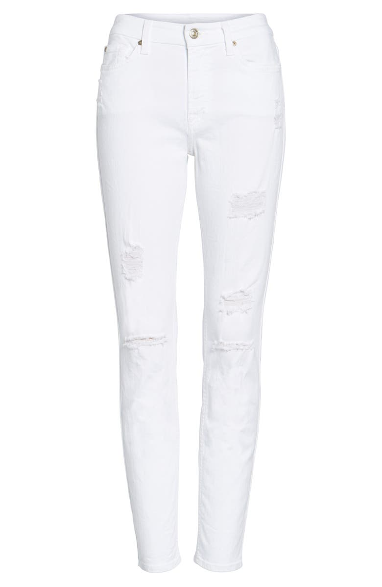 7 FOR ALL MANKIND<SUP>®</SUP> Destroyed Ankle Skinny Jeans, Main, color, 101