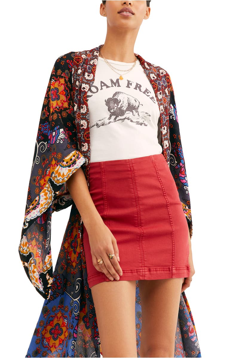 FREE PEOPLE Little Wing Duster, Main, color, BLACK COMBO