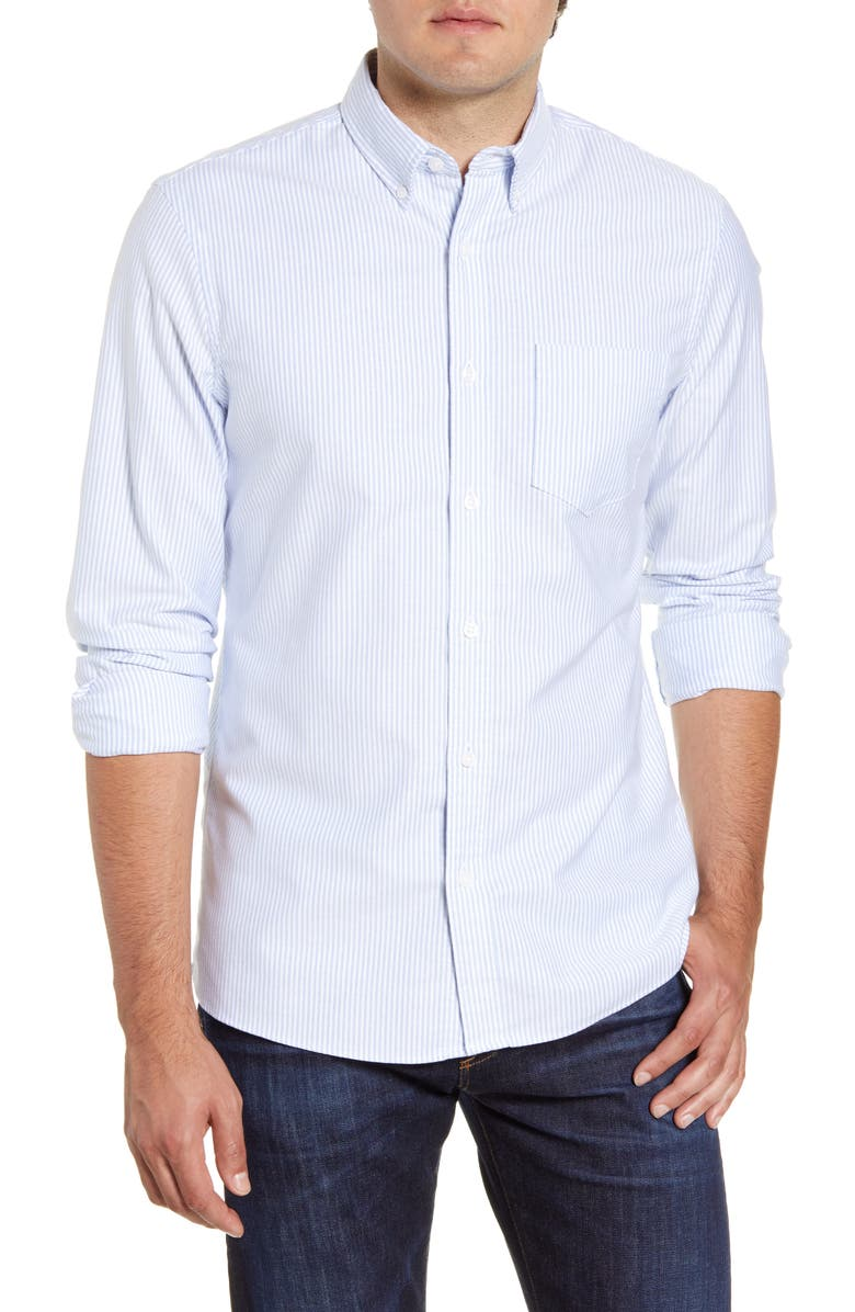 1901 Trim Fit Washed Oxford Shirt, Main, color, 400