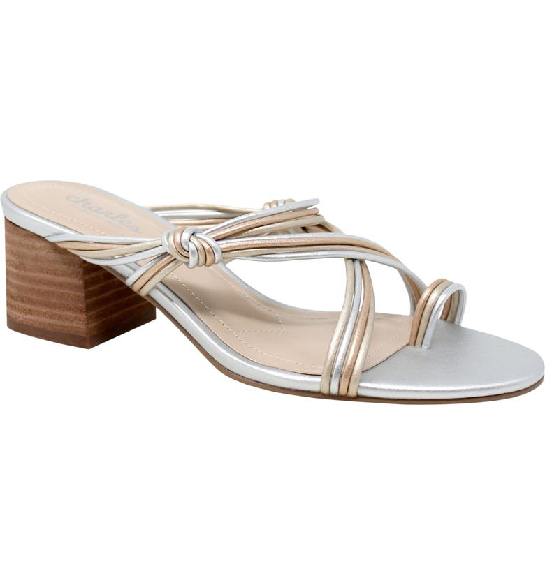 CHARLES BY CHARLES DAVID Captain Slide Sandal, Main, color, METALLIC FAUX LEATHER