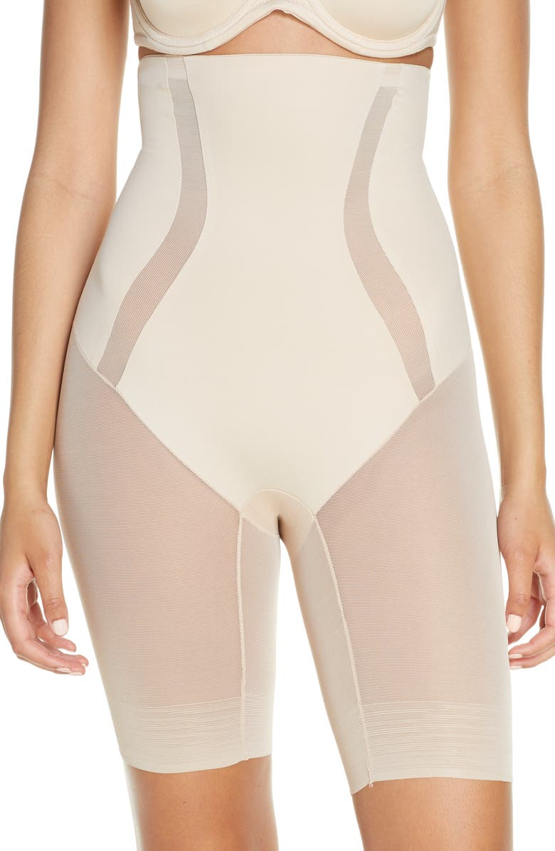 TC Middle Manager High Waist Thigh Slimmer, Main, color, NUDE