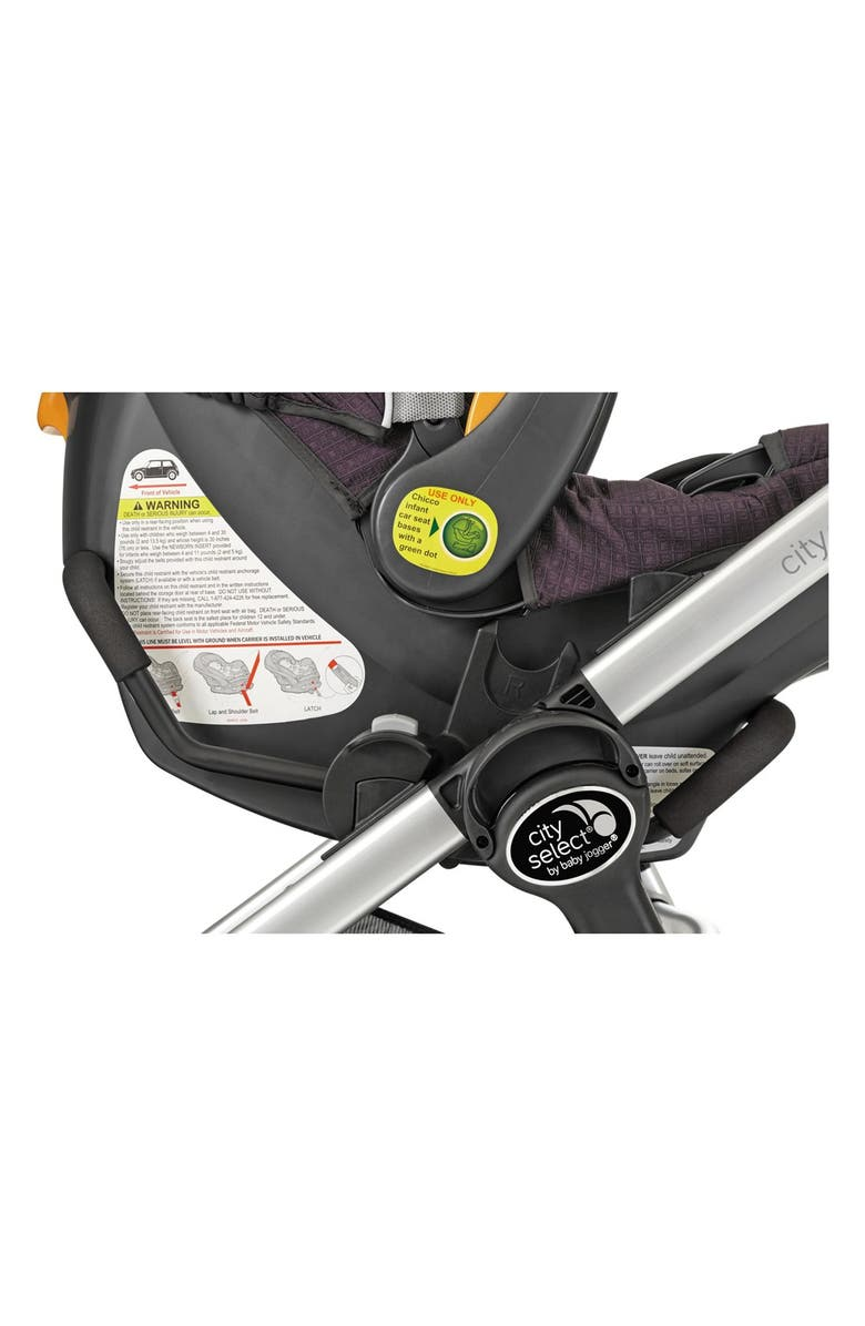 BABY JOGGER Single City Select<sup>®</sup>/City Premier<sup>®</sup> Stroller to Chicco KeyFit 30 & Peg-Perego Primo Viaggio Car Seat Adapter, Main, color, BLACK