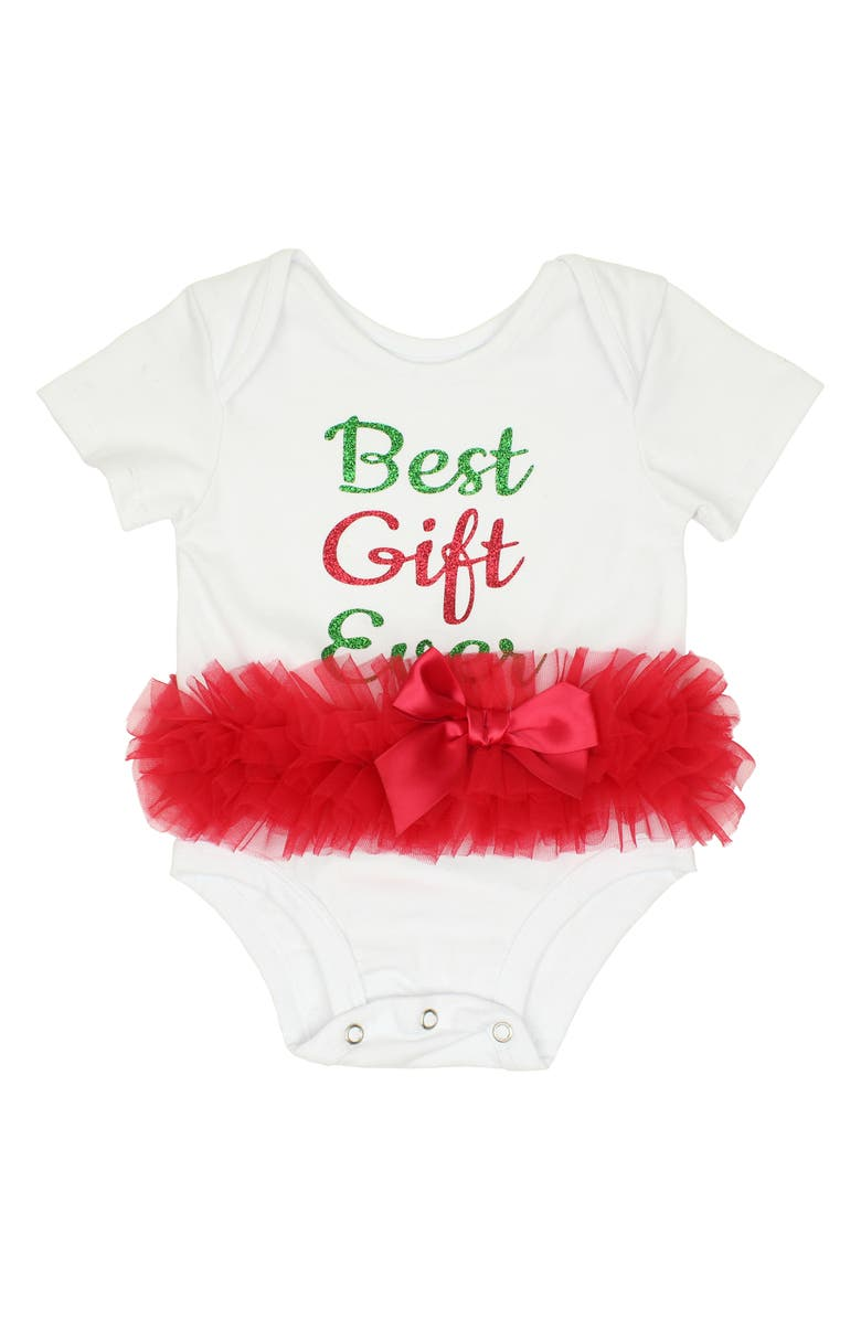 POPATU Best Gift Ever Skirted Bodysuit, Main, color, 106