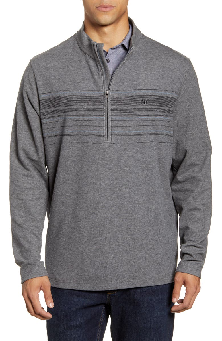 TRAVISMATHEW Transitions Stripe Half Zip Pullover, Main, color, 020
