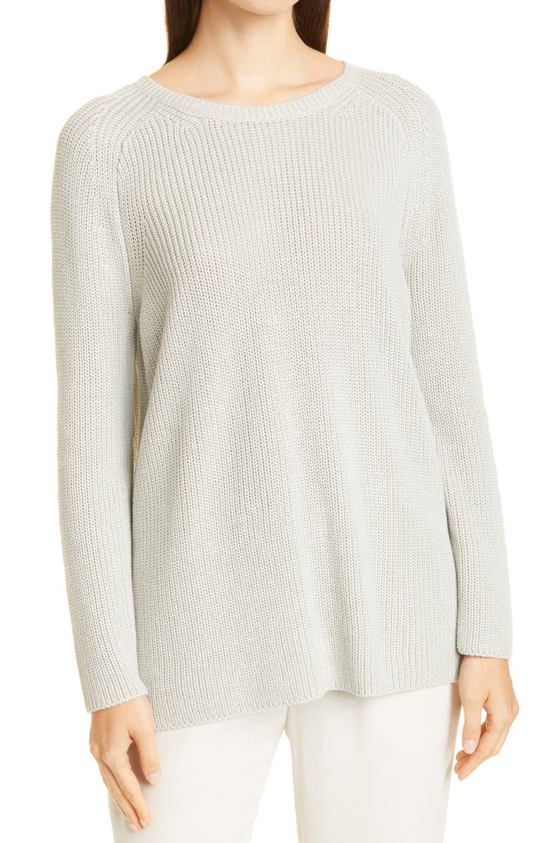 EILEEN FISHER Crewneck Sweater, Main, color, YOUNG FERN