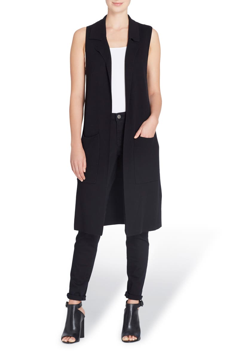 CATHERINE CATHERINE MALANDRINO Ivy Long Vest, Main, color, 010
