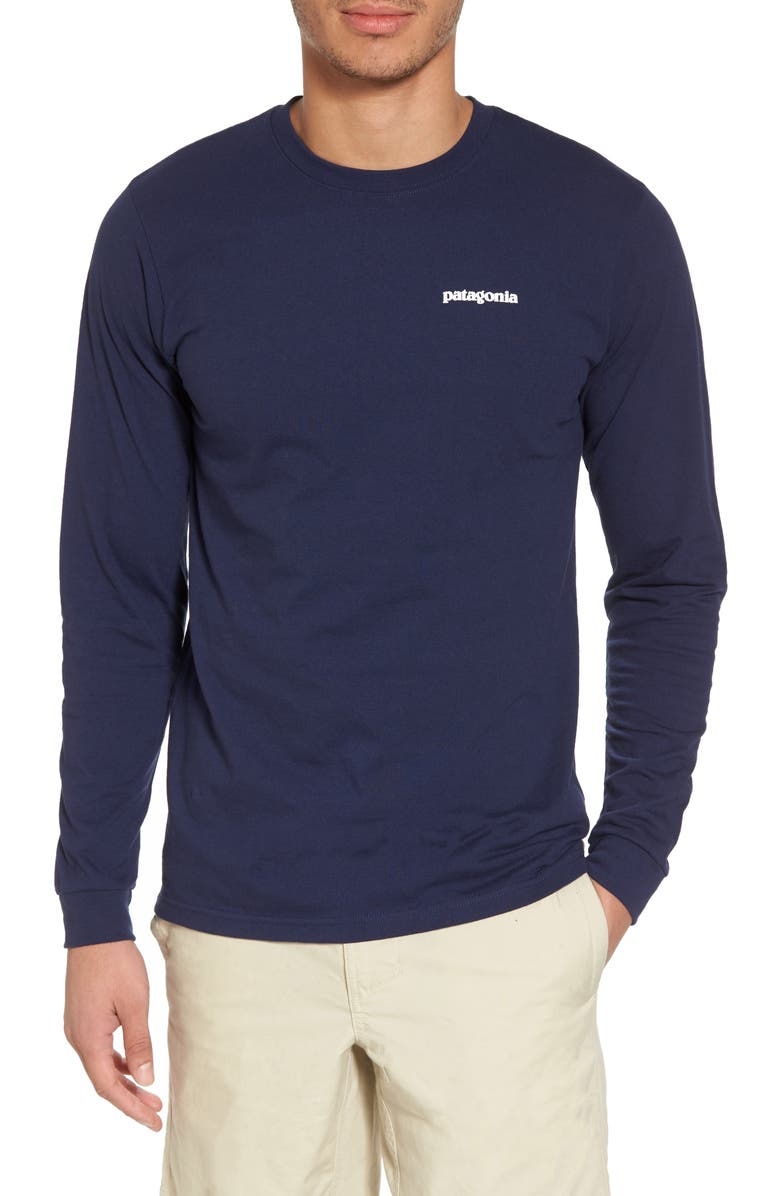 PATAGONIA Responsibili-Tee Long Sleeve T-Shirt, Main, color, CLASSIC NAVY