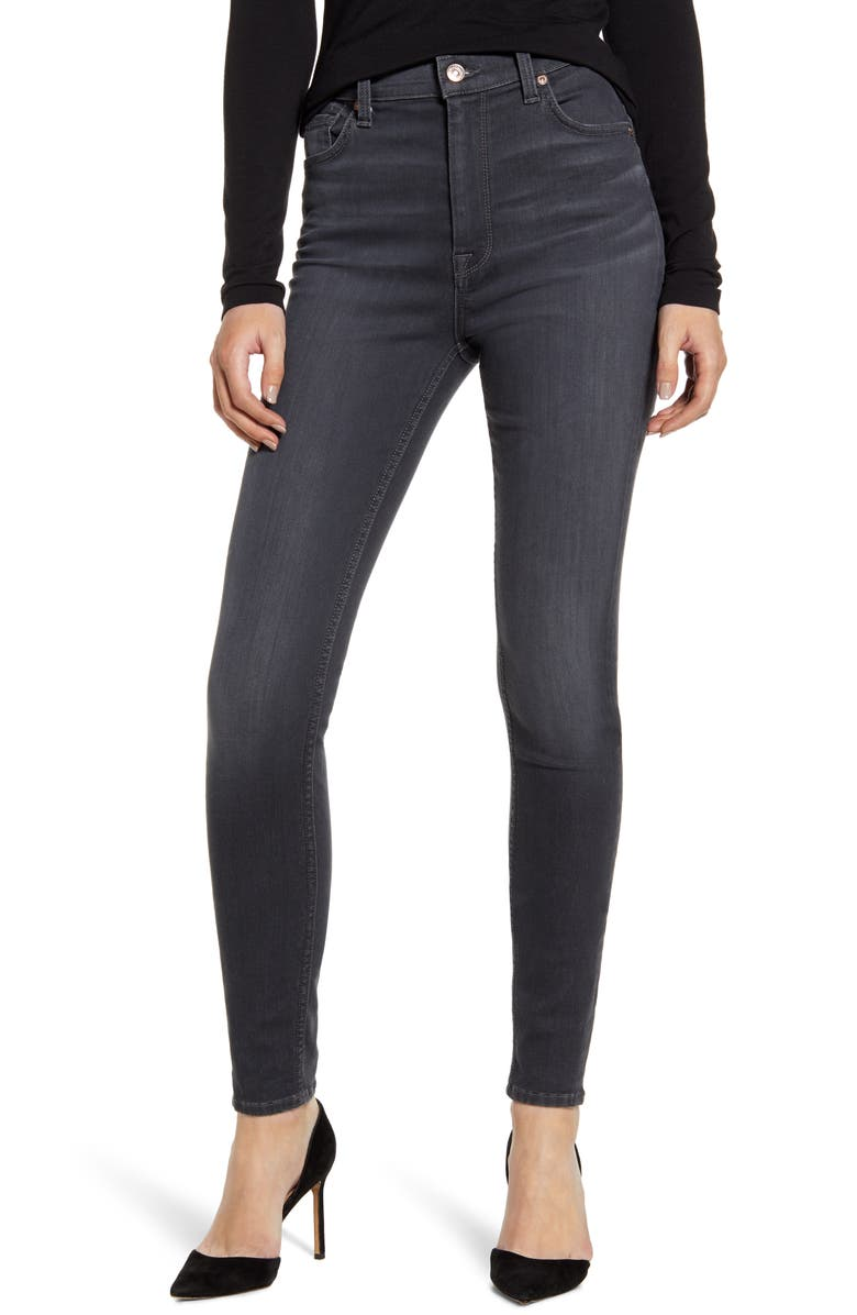 7 FOR ALL MANKIND<SUP>®</SUP> High Waist Ankle Skinny Jeans, Main, color, CLASSIC GREY