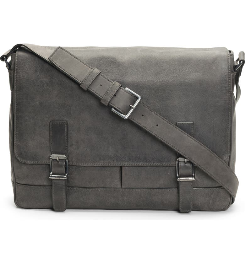 FRYE Oliver Leather Messenger Bag, Main, color, 031