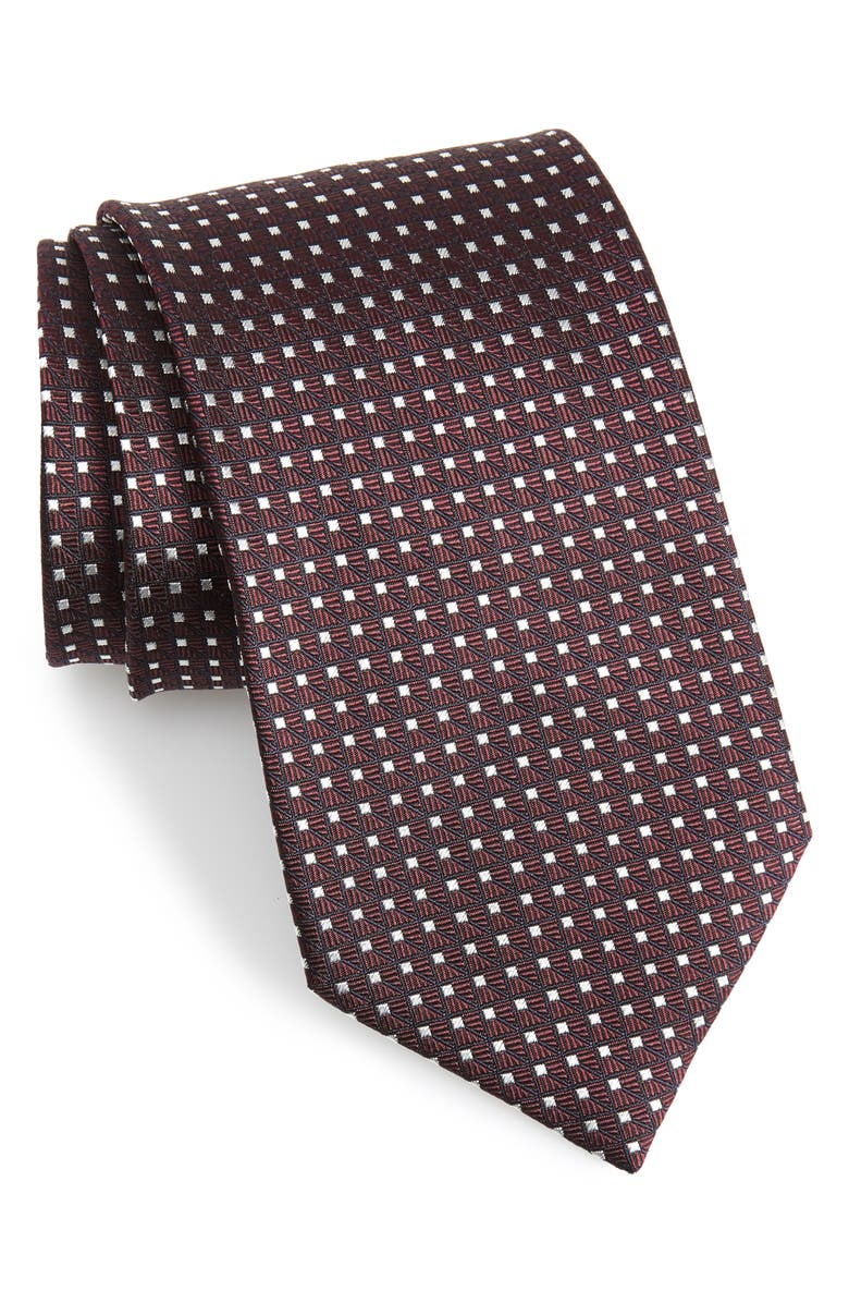 ERMENEGILDO ZEGNA Geometric Silk X-Long Tie, Main, color, 930