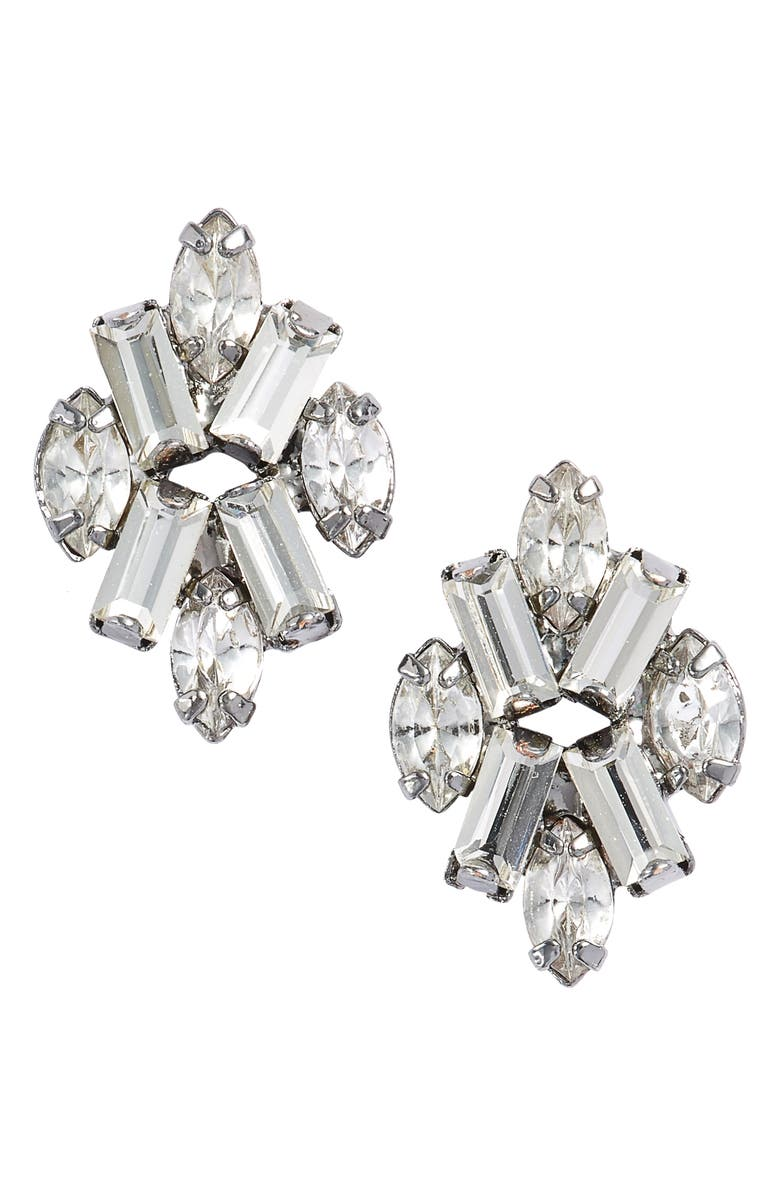 CRISTABELLE Crystal Stud Earrings, Main, color, 040