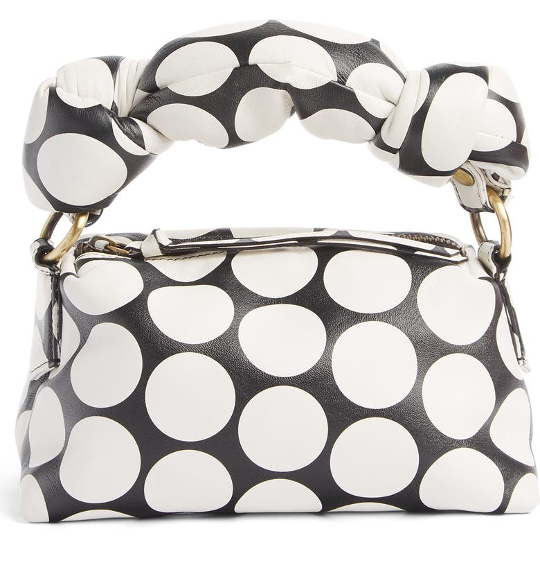 DRIES VAN NOTEN Large Puff Polka Dot Leather Clutch, Main, color, 900