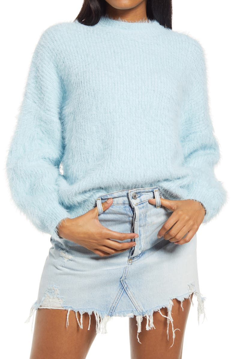 SNDYS Cozi Pullover Sweater, Main, color, BABY BLUE