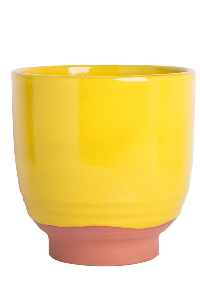 """HOME ESSENTIALS AND BEYOND 10"""" Bright Yellow Planter, Main, color, YELLOW"""