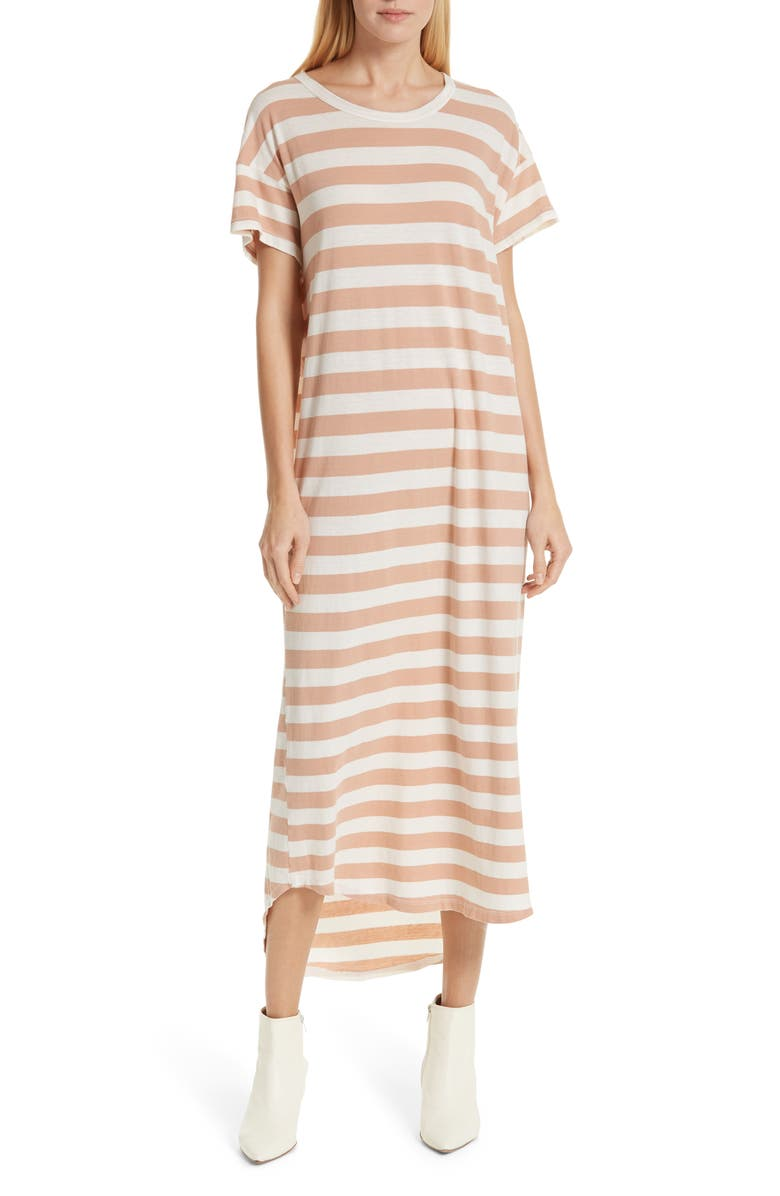 THE GREAT. The Boxy Shirttail Midi Dress, Main, color, 690