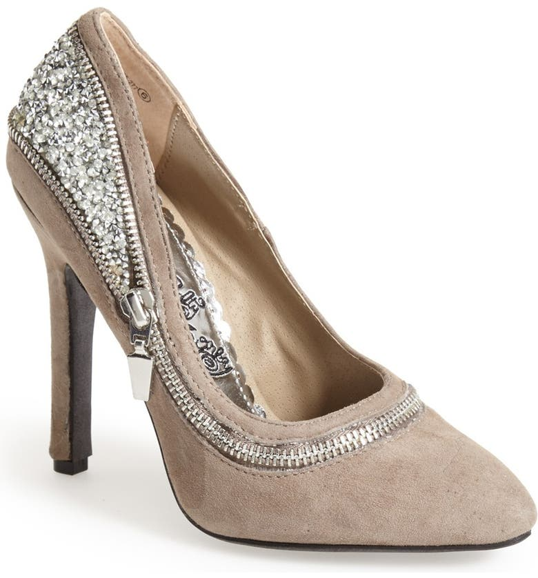 NAUGHTY MONKEY 'All I Want Is You' Glitter Back Pump, Main, color, TAUPE