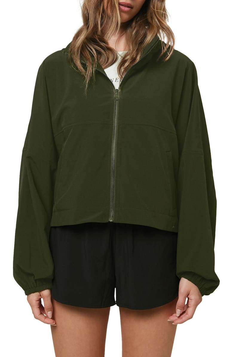 O'NEILL Lexington Hybrid Packable Jacket, Main, color, DARK OLIVE