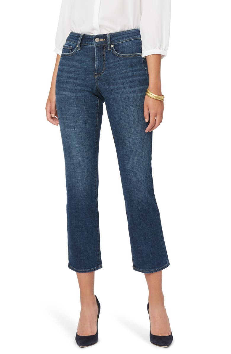 NYDJ Marilyn Ankle Straight Leg Jeans, Main, color, MARCEL