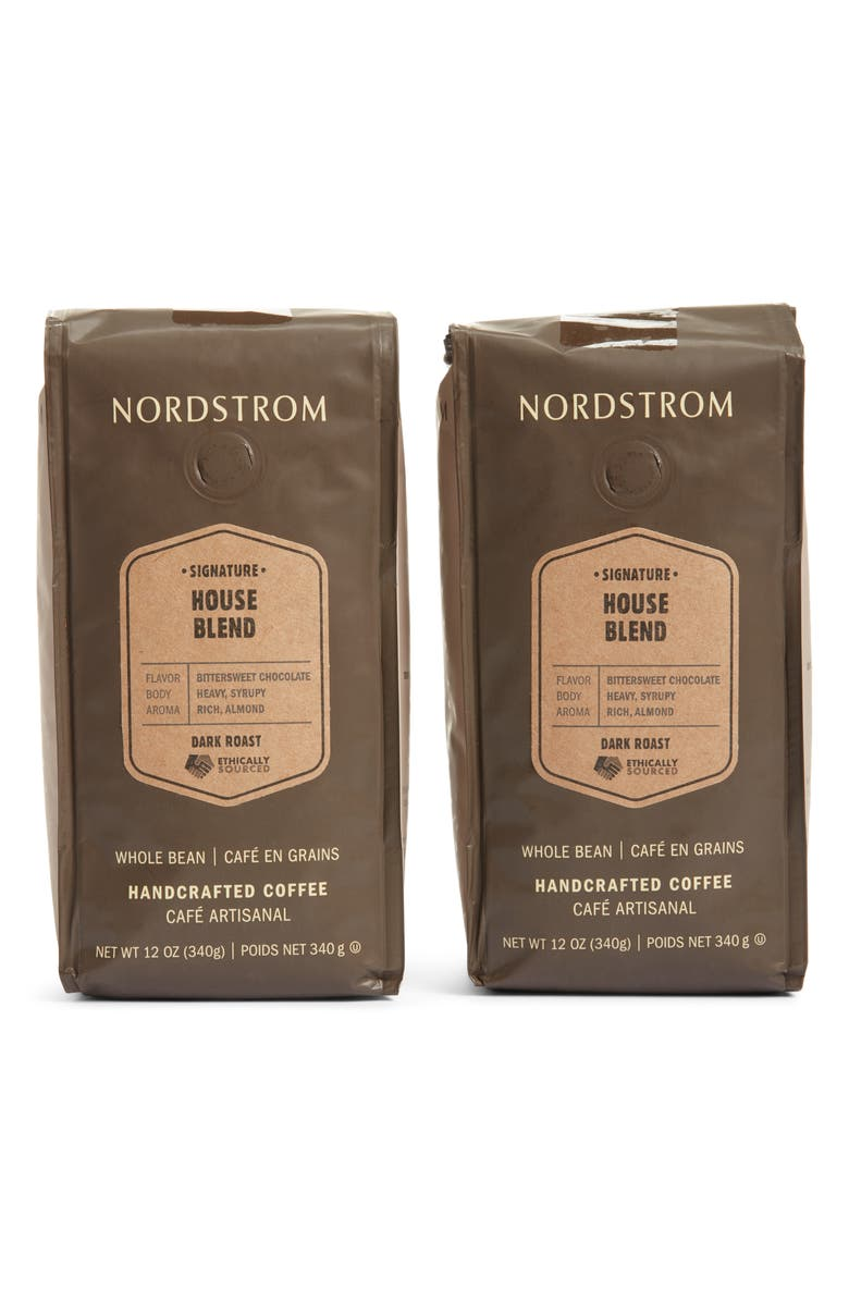 NORDSTROM Ethically Sourced House Blend 2-Pack Whole Bean Coffee, Main, color, 200