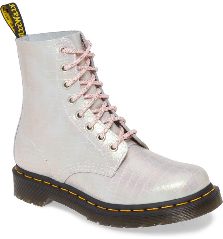 DR. MARTENS 1460 Croc Embossed Boot, Main, color, 650