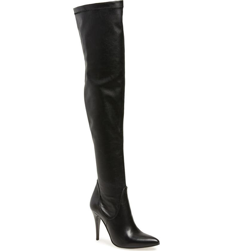 CHARLES DAVID 'Katerina' Over the Knee Boot, Main, color, BLACK LEATHER/ STRETCH