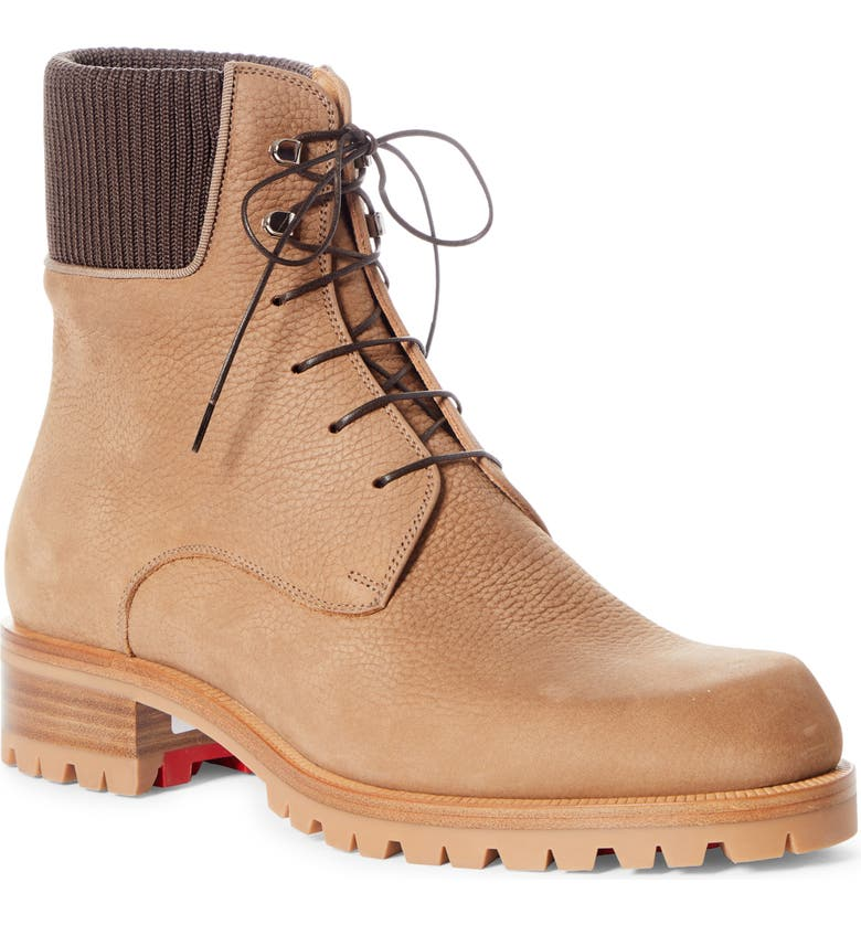 CHRISTIAN LOUBOUTIN Trapman Hiking Boot, Main, color, FENNEC