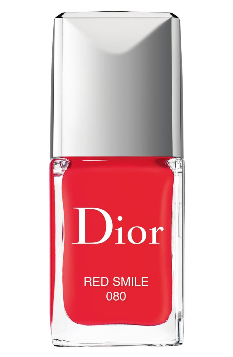 DIOR Vernis Gel Shine & Long Wear Nail Lacquer, Main, color, 080 RED SMILE