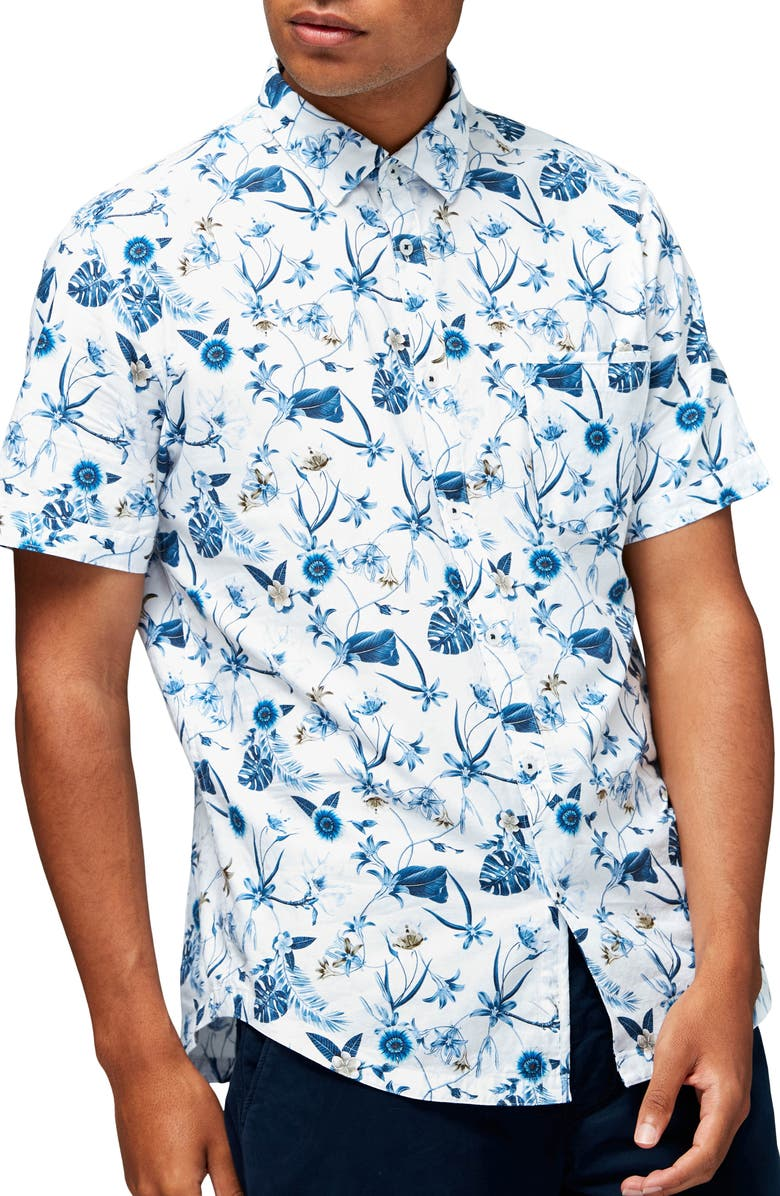 GOOD MAN BRAND On Point Slim Fit Short Sleeve Button-Up Shirt, Main, color, 124