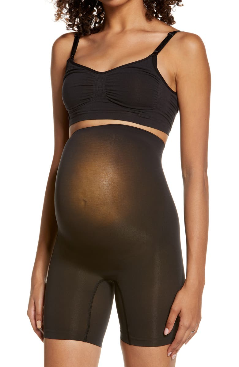 SKIMS Sculpting Above the Knee Shorts, Main, color, ONYX
