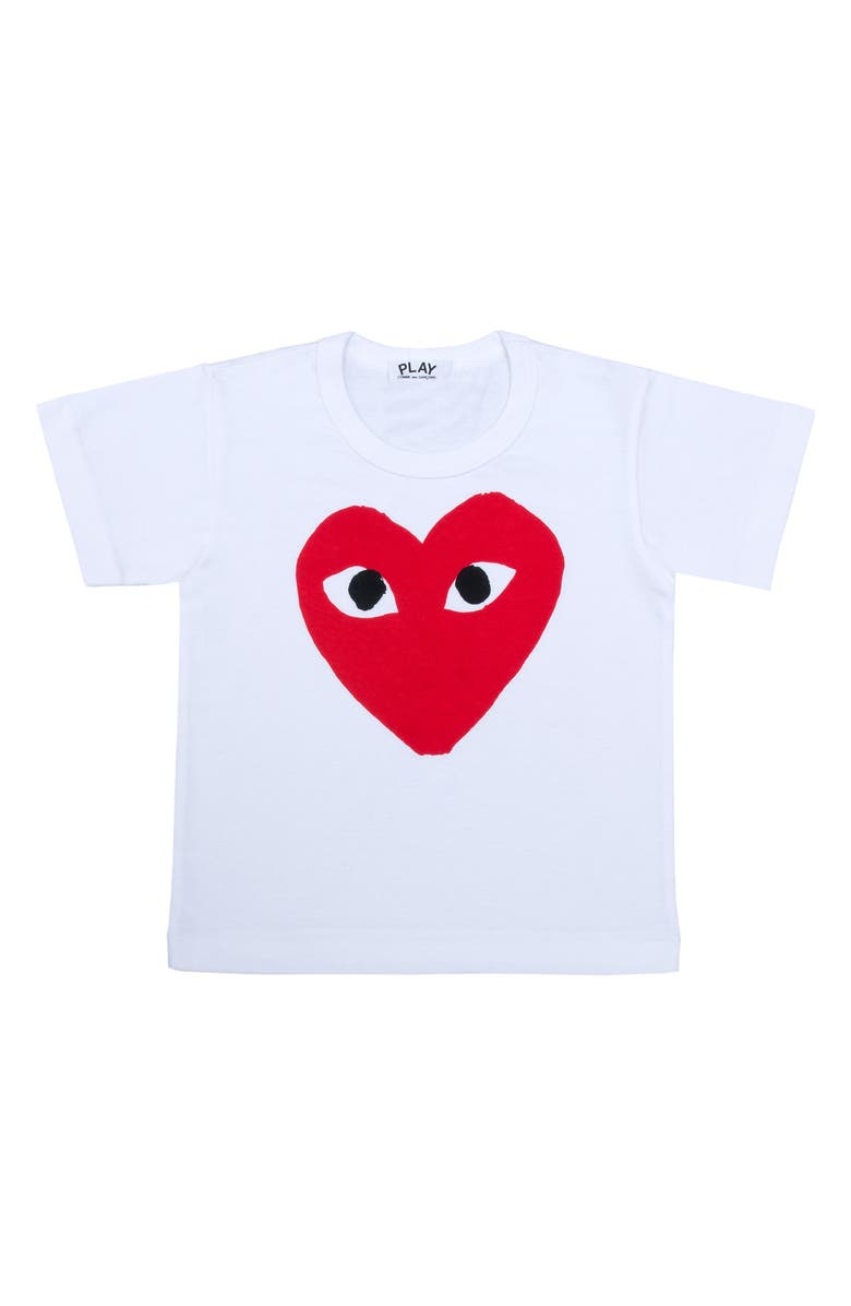 COMME DES GARÇONS PLAY Heart Face Graphic T-Shirt, Main, color, 100
