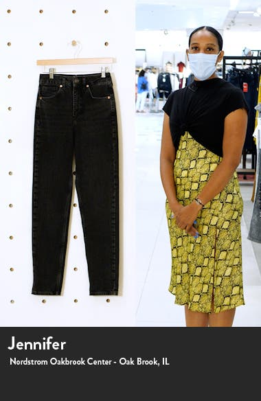 High Waist Tapered Mom Jeans, sales video thumbnail